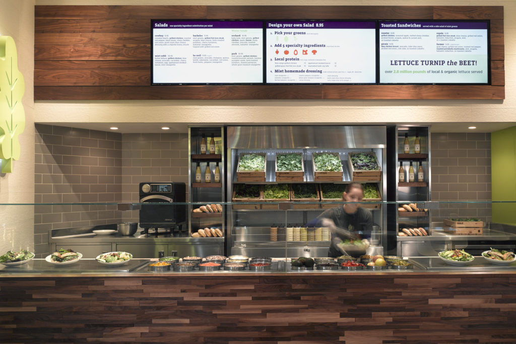 Service Counter and Menu Board Mixt Greens VIII