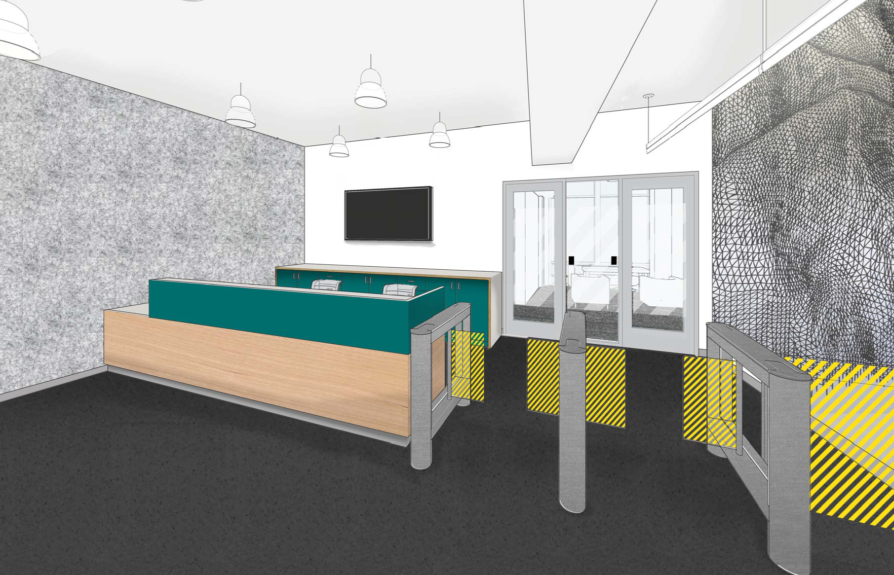 Rendering of Lobby and Reception